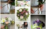 Как сделать красивый пышный букет из живых цветов своими руками? Оригинальные композиции из живых цветов. Создаем красивый и оригинальный букет невесты своими руками. Как сделать букет из роз? Как сделать букет в виде сердца