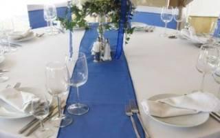 Украшение зала на свадьбу в синем цвете. Свадьба в бело-синем цвете: утонченная красота в деталях! Оригинальные идеи для церемонии