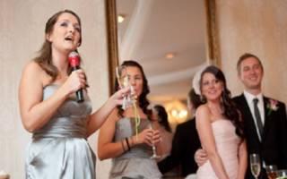 Свадебные тосты и пожелания. Тосты от свидетельницы на день свадьбы