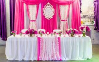 Подготовка к свадьбе в деталях: украшение свадебного стола. Оформление стола жениха и невесты. Оформление столов свадебных