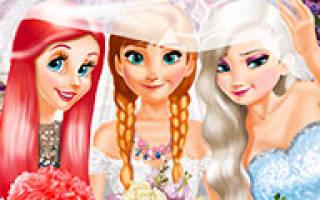 Играть в игры для девочек свадьба. Игры свадебные одевалки