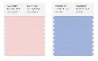 Модные цвета свадьбы: розовый кварц. Подводный синий: вперед в прошлое